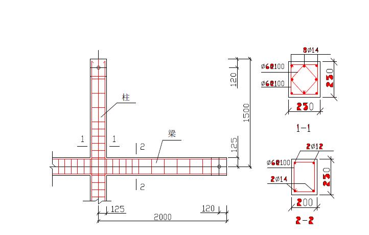 框架结构节点的实际设
